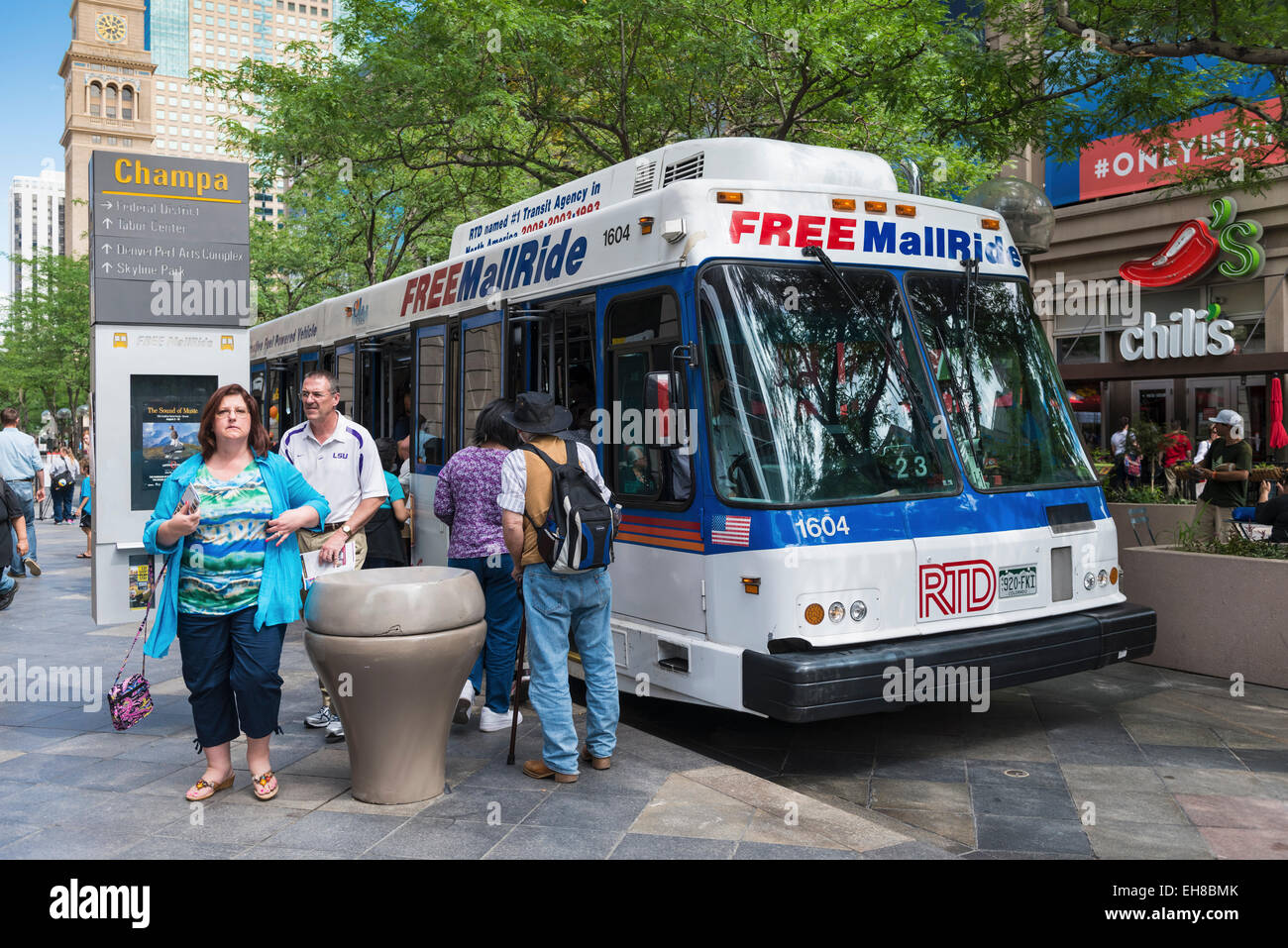 The Famous Free Shuttle Bus On 16th Street Mall Denver