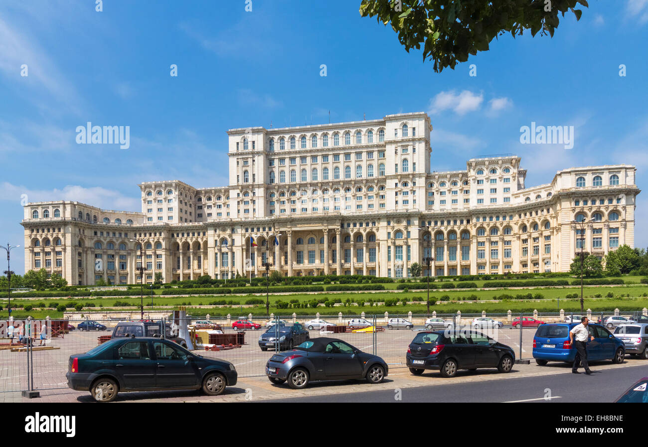 The People's Palace, Bucharest, Romania, Europe - Stock Image