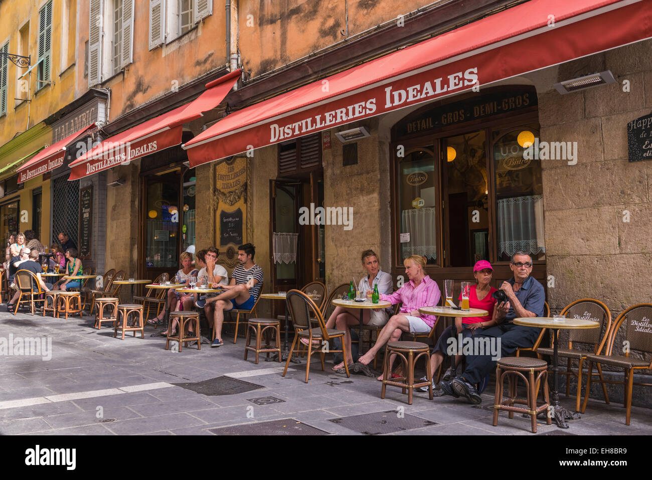 French cafe in Nice, France, Cote d'Azur Stock Photo ...