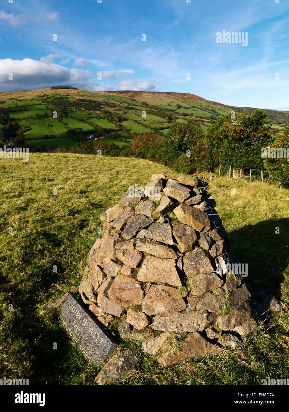 John Hewitt's Grave, Glenaan, County Antrim - Stock Image