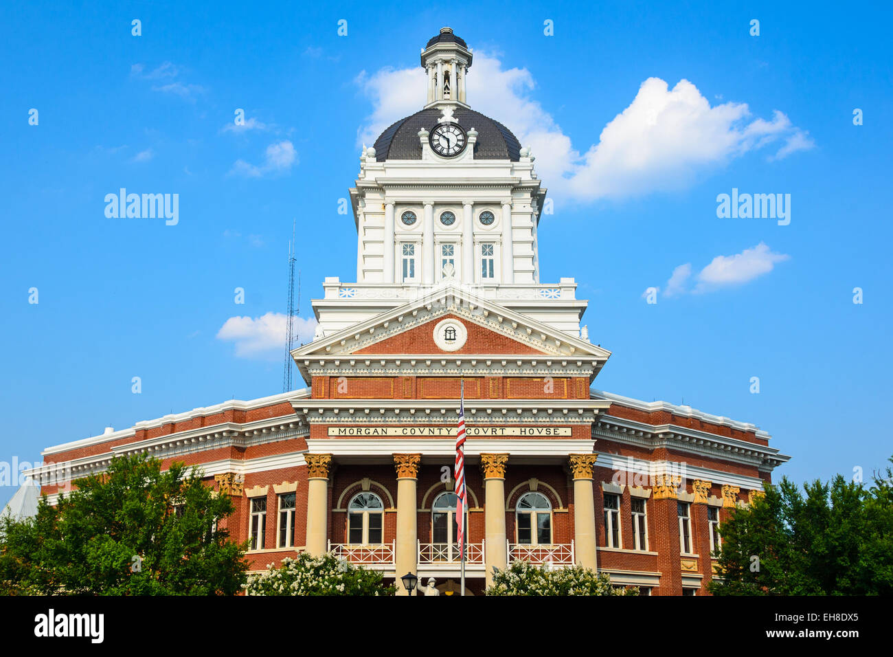Morgan County Courthouse in Madison, Morgan County, Georgia, USA. - Stock Image