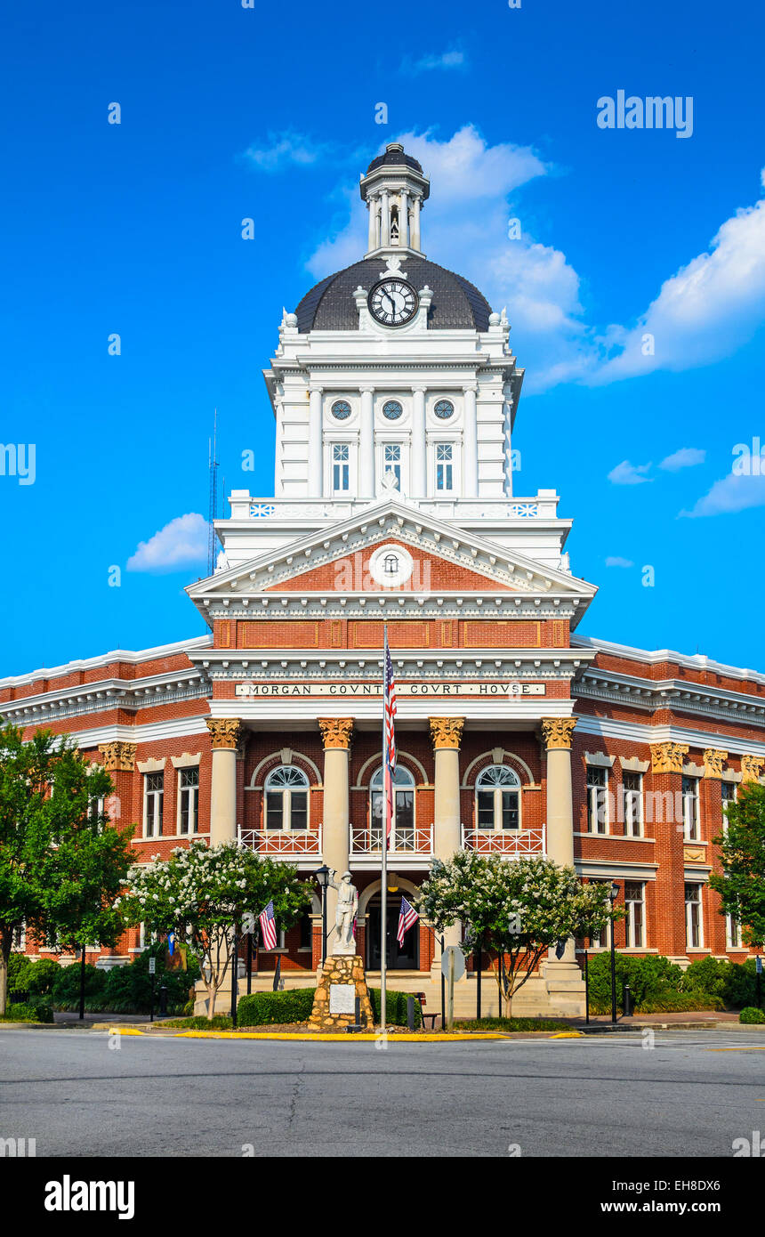 Morgan County Court House in Morgan County, Georgia. - Stock Image