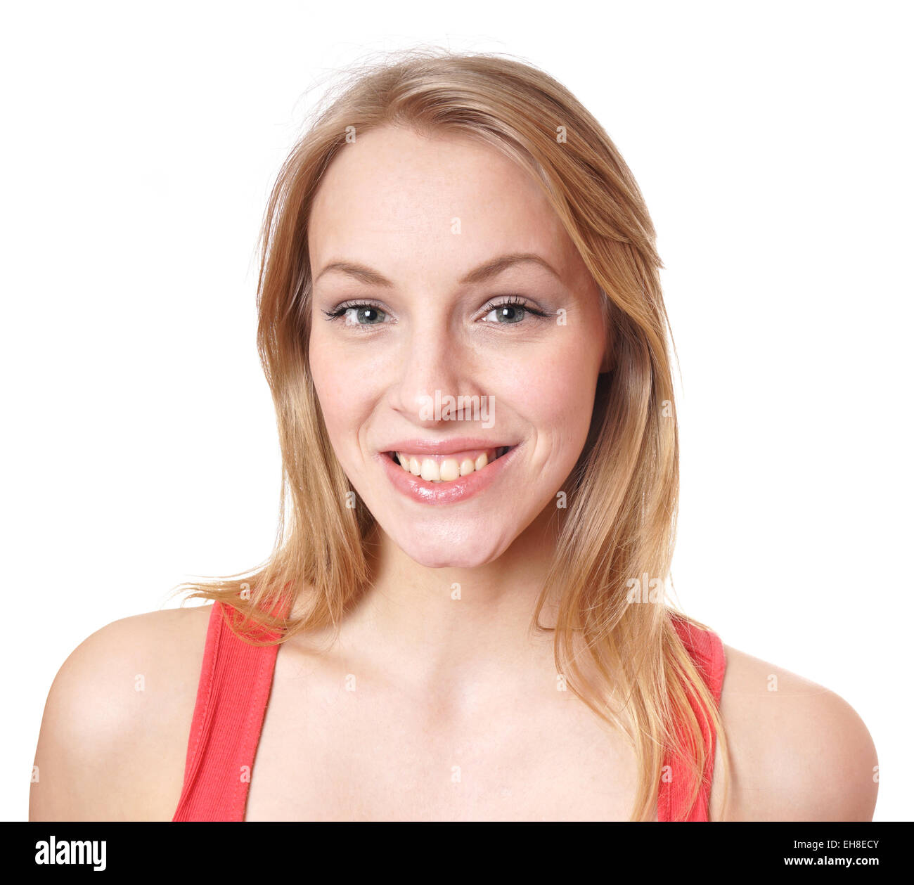 happy young woman - Stock Image
