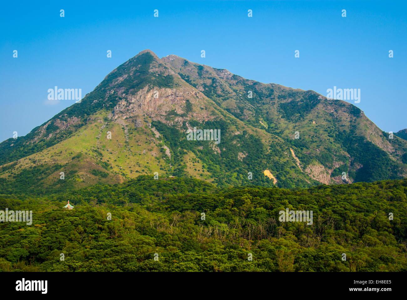 Lantau Peak, 934m high on Lantau Island, Hong Kong - Stock Image