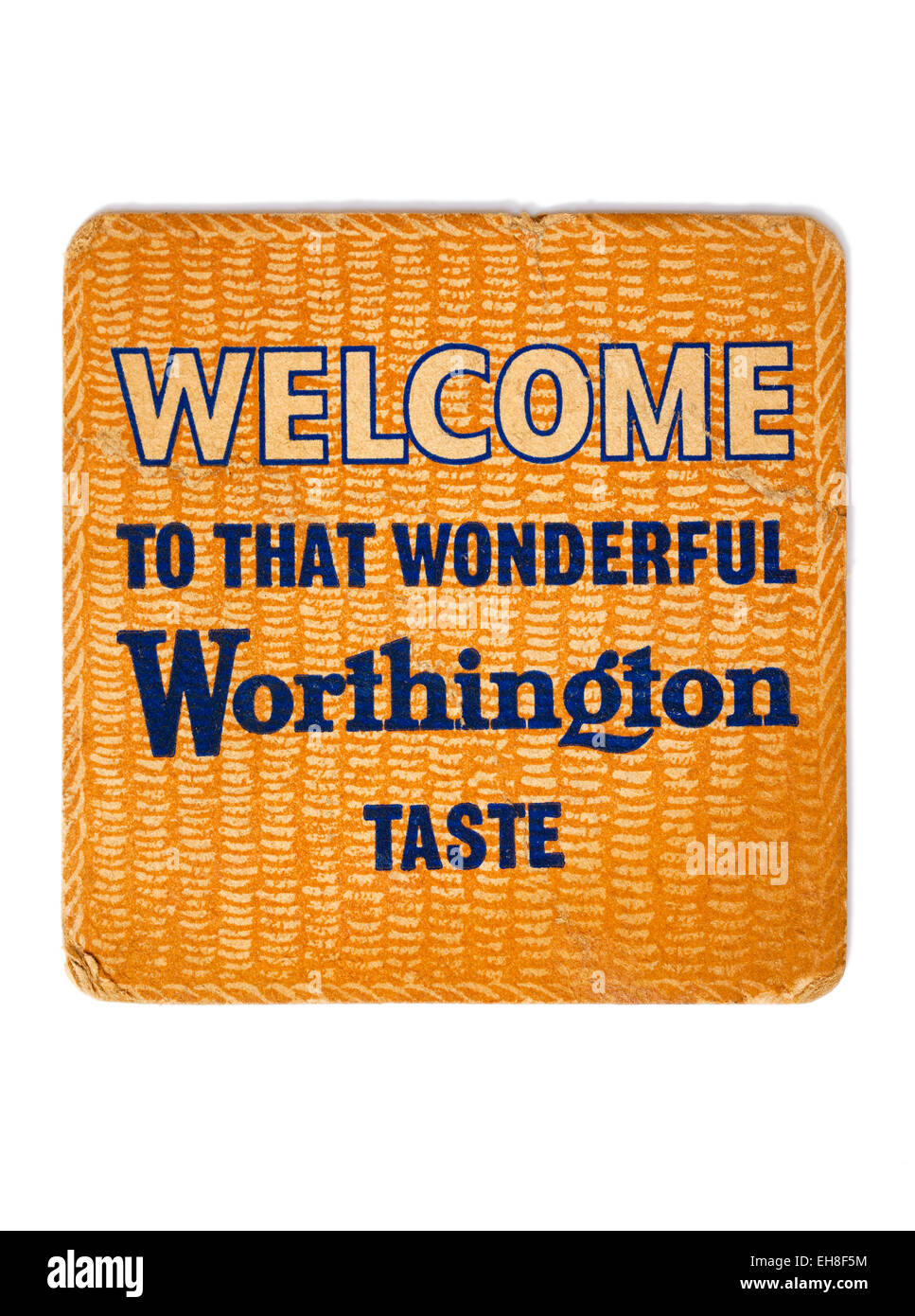 Vintage Beermat Advertising Worthington Beer - Stock Image