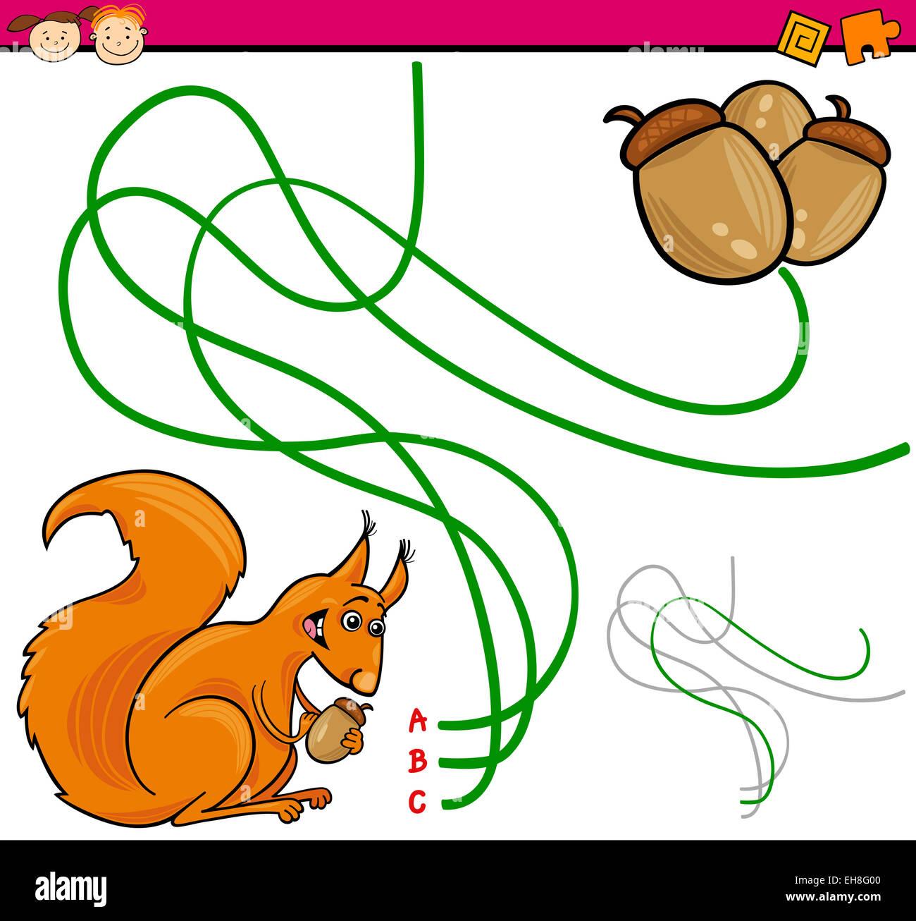 Cartoon Squirrel Puzzle Game Stock Photos & Cartoon Squirrel Puzzle ...