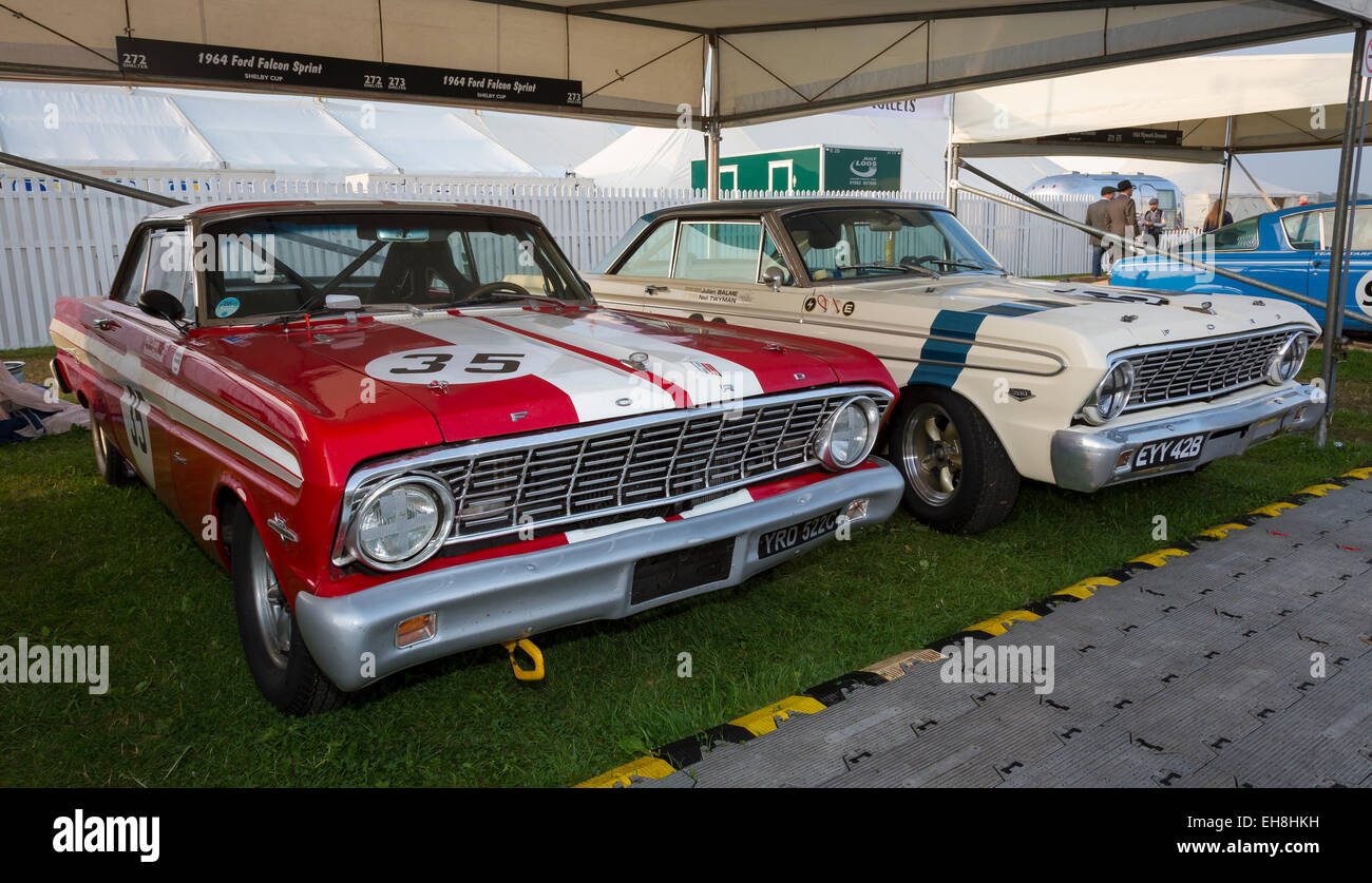 Ford Falcon Car Stock Photos Images Page 2 1964 Ranchero For Sale Sprints In The Paddock At 2014 Goodwood Revival Sussex