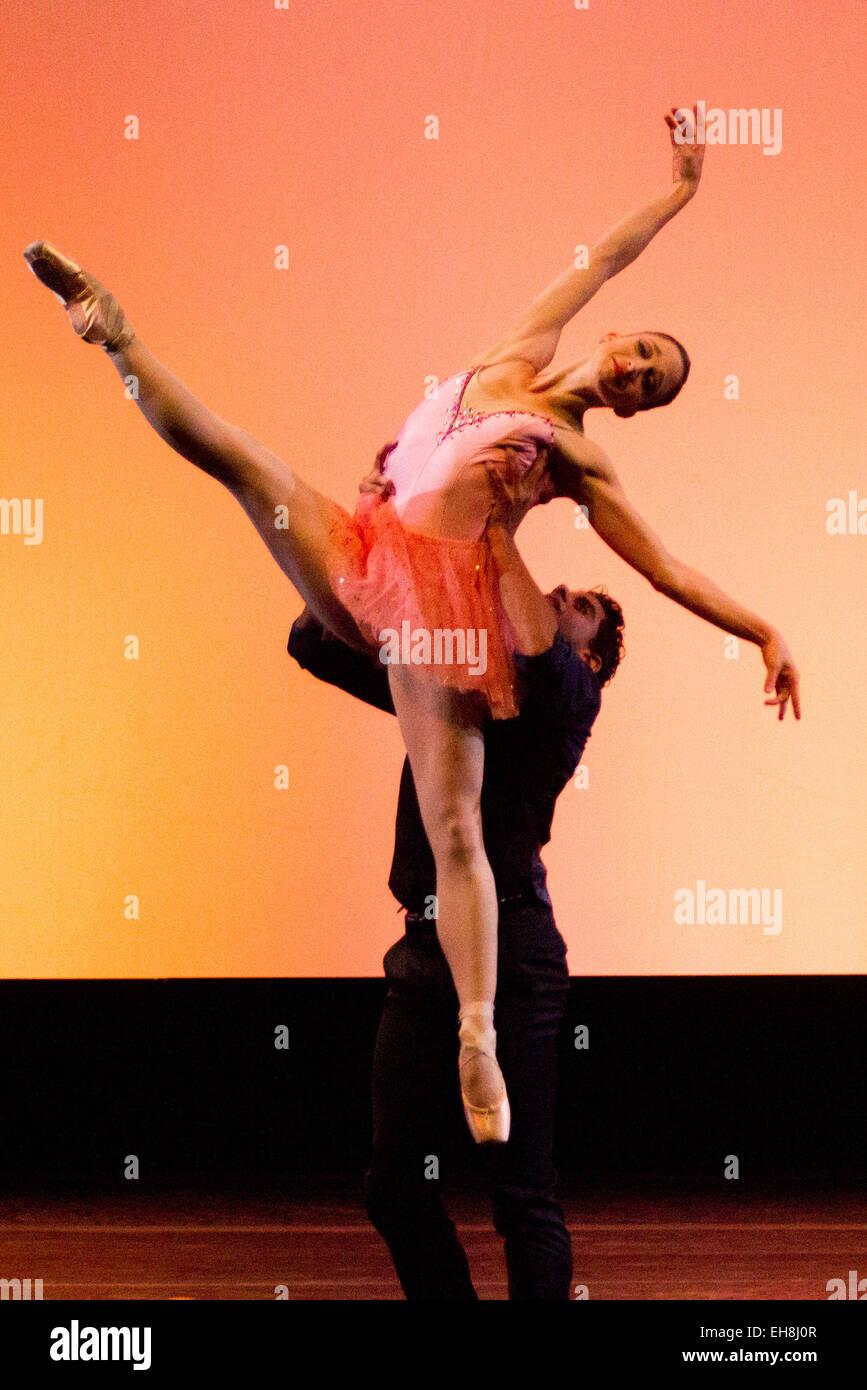 new york ballet star in gran gala at auditorium parco della musica italy Stock Photo