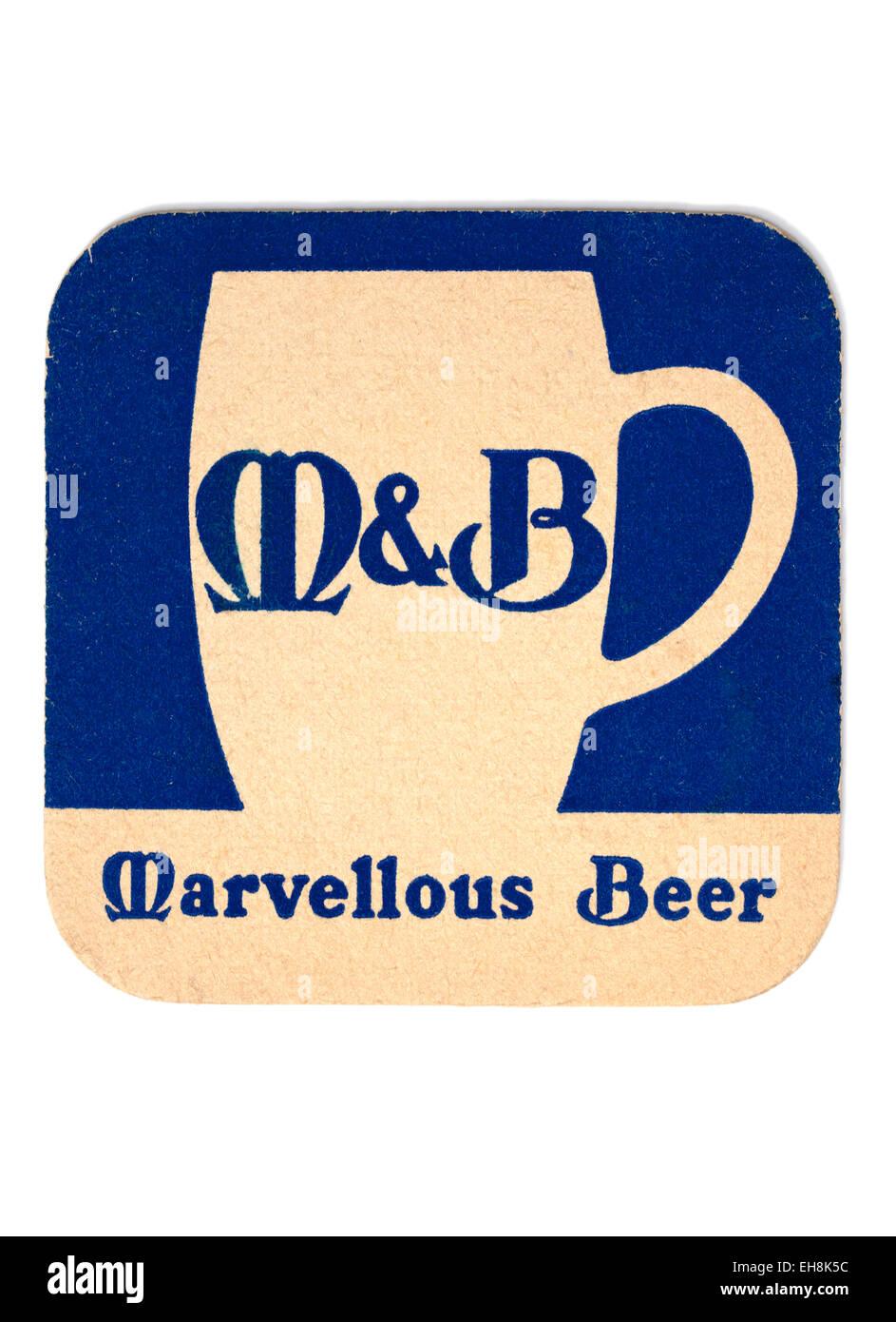 Vintage Beermat Advertising M&B Beer - Stock Image