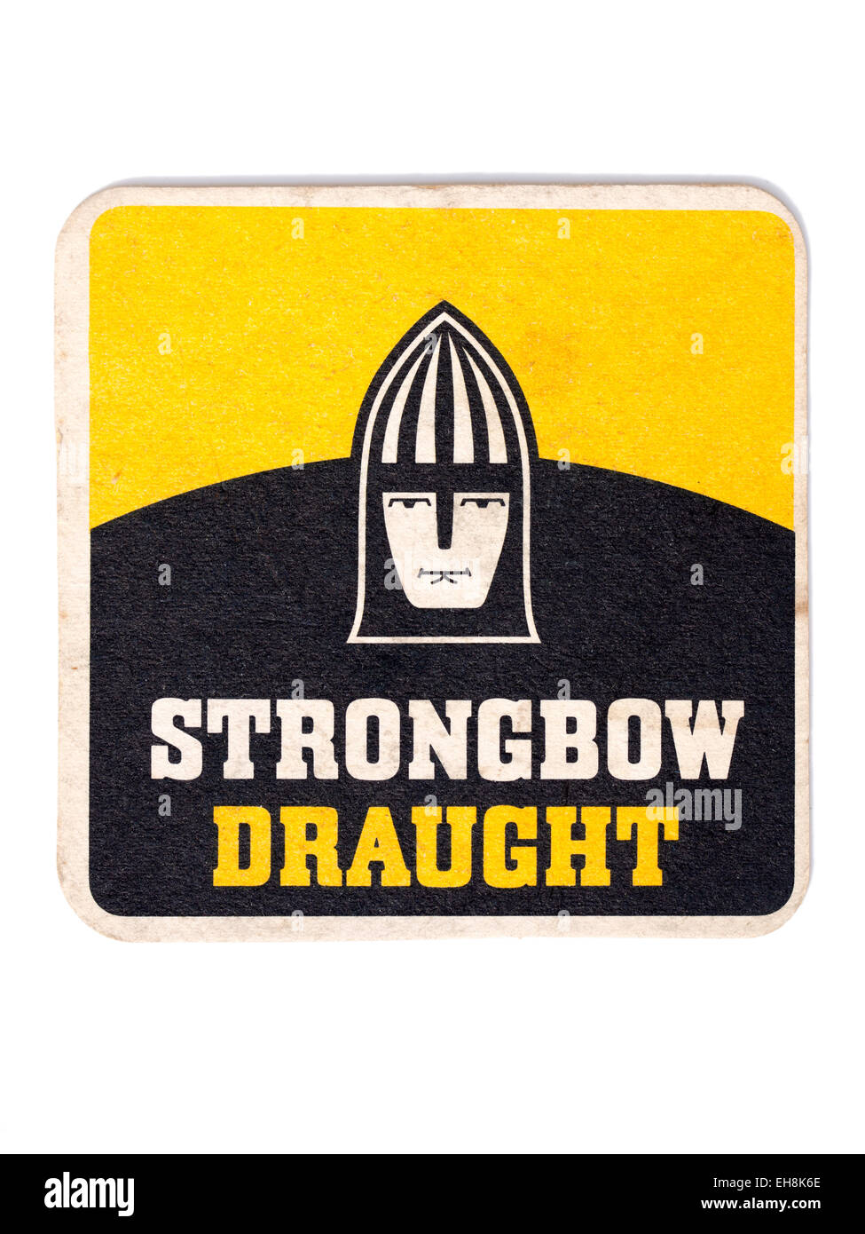 Vintage Beermat Advertising Strongbow Cider - Stock Image