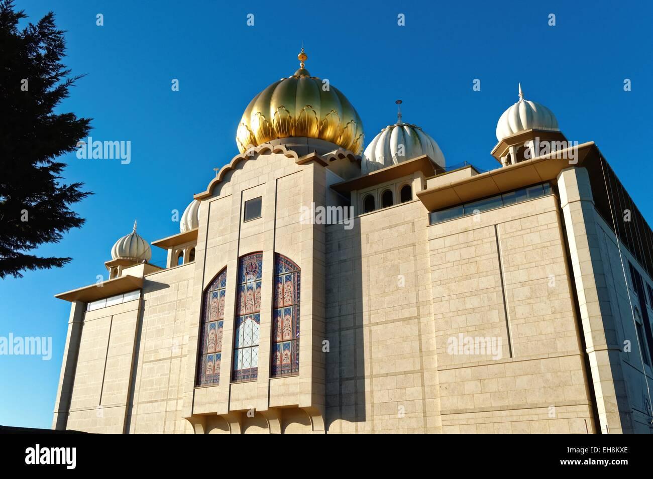 Gurdwara Sri Guru Singh Sabha Temple Southall West London - Stock Image