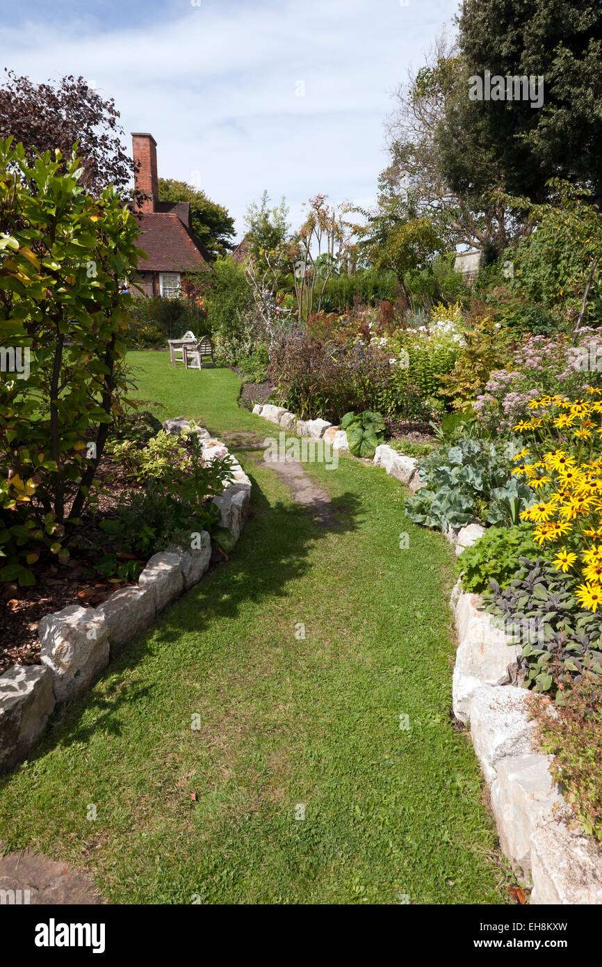 A view of the Secret Gardens at the Salutation, Sandwich Kent. - Stock Image