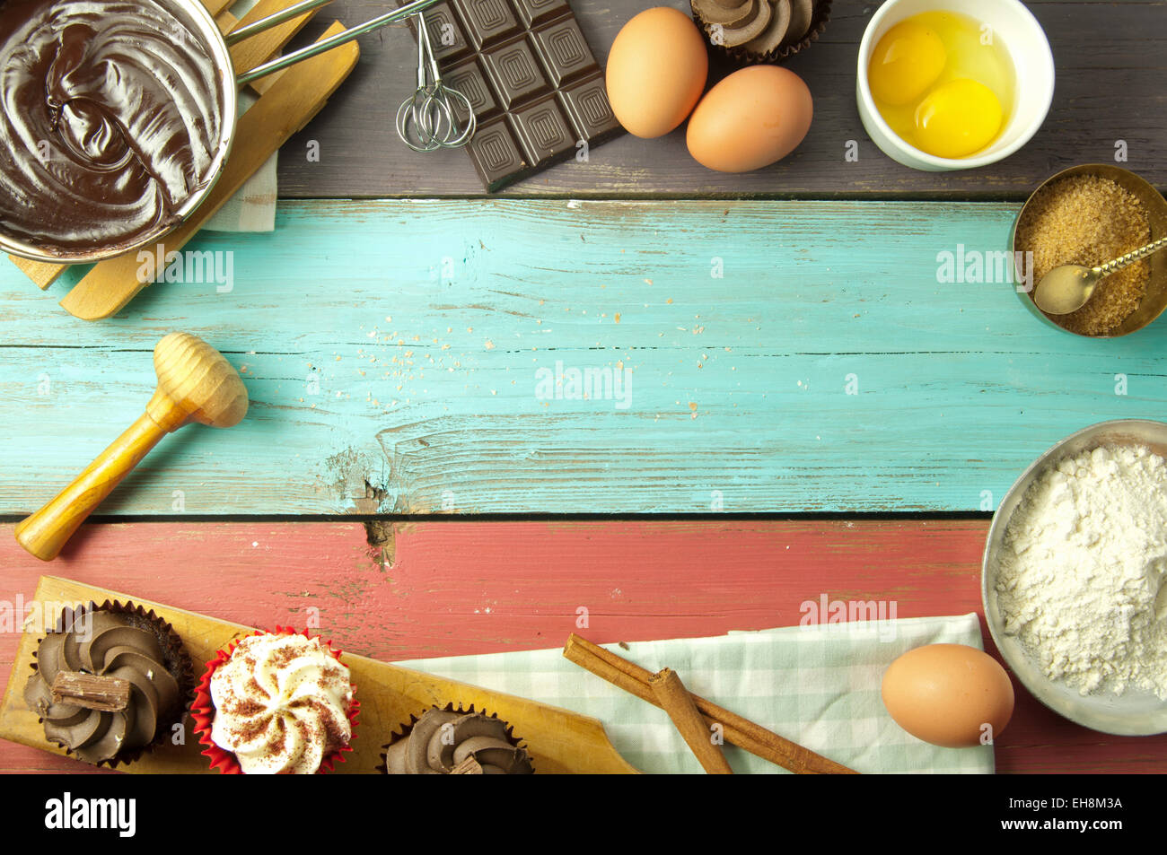 Baking A New Recipe Background Stock Photo Alamy