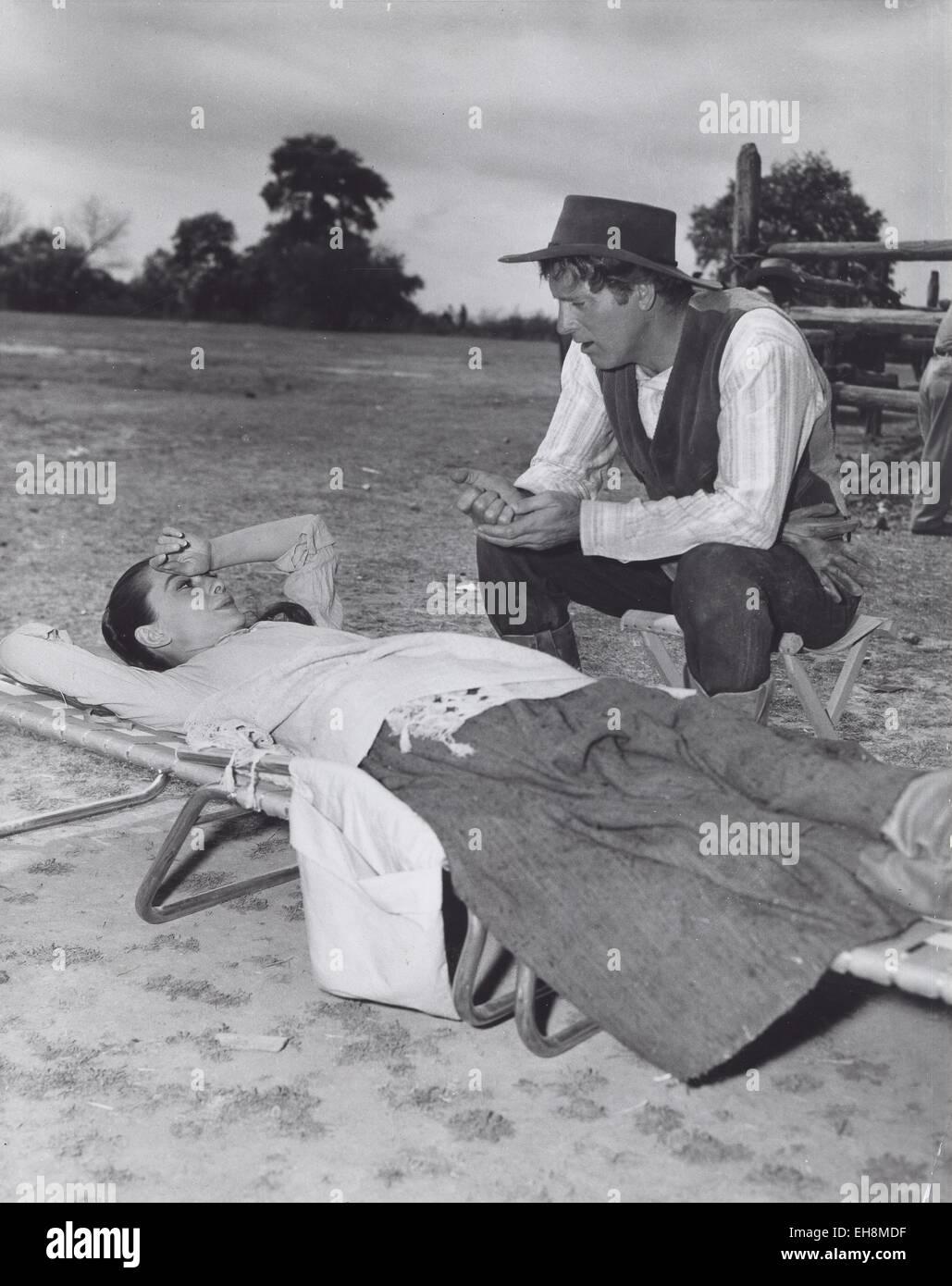AUDREY HEPBURN Burt Lancaster.The Unforgiven 1960. © Smp/Globe Photos/ZUMA Wire/Alamy Live News - Stock Image