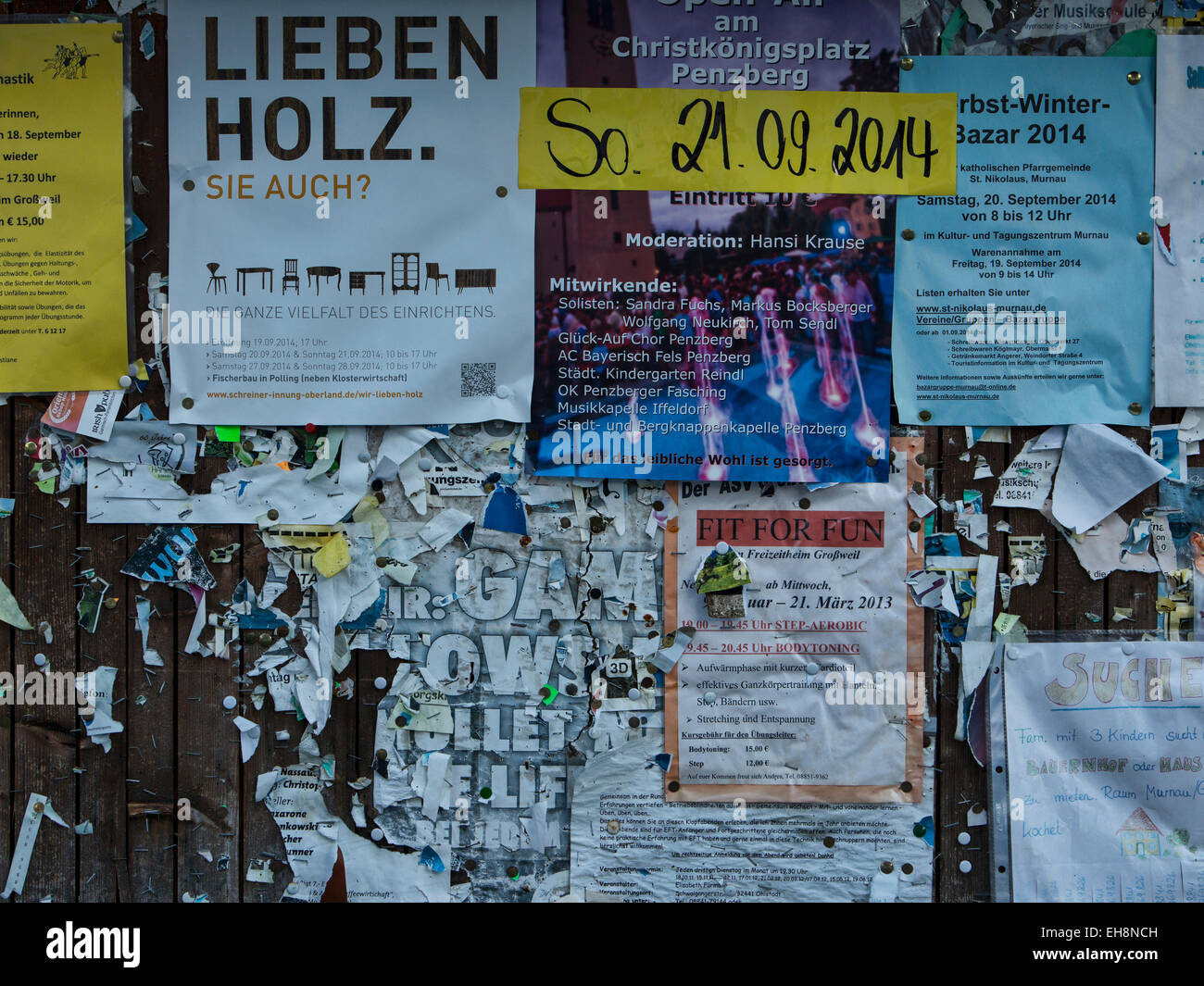 Community bulletin board stock photos community bulletin board munich germany community bulletin board paper notice stock image gumiabroncs Image collections