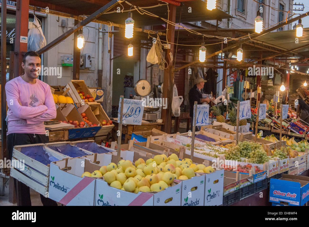 Palermo, Mercato di Ballaro - Stock Image