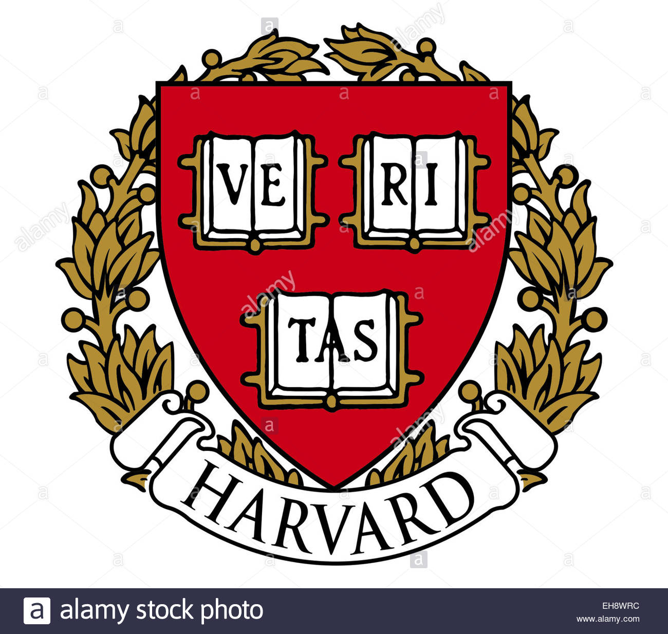 Harvard University logo icon symbol - Stock Image
