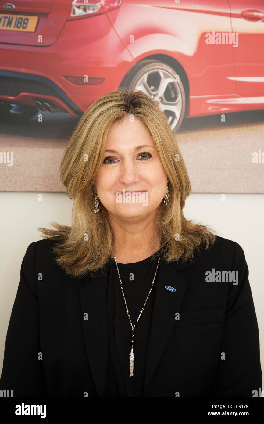 Barb Samardzich vice president and chief operating officer, Ford of Europe. Geneva Motor Show 2015 - Stock Image