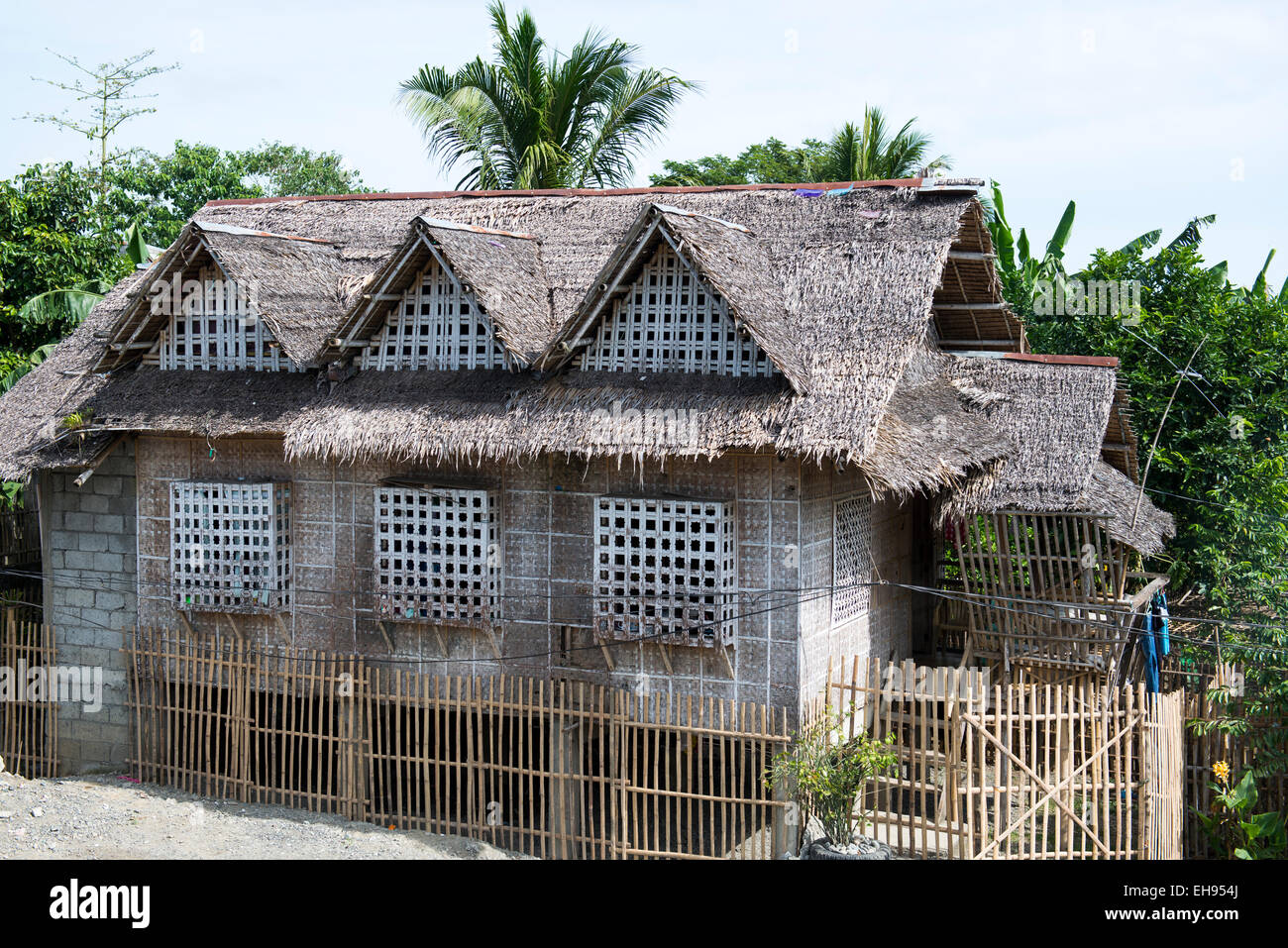 A traditional house in a village in aklan philippines for Typical filipino house design
