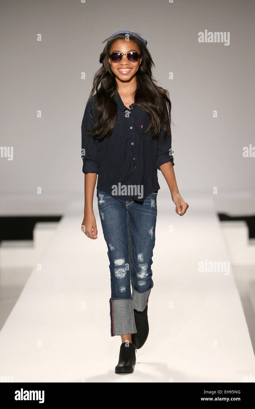 Child Model Walks The Runway At The Nike Levi S Kids Fashion Show