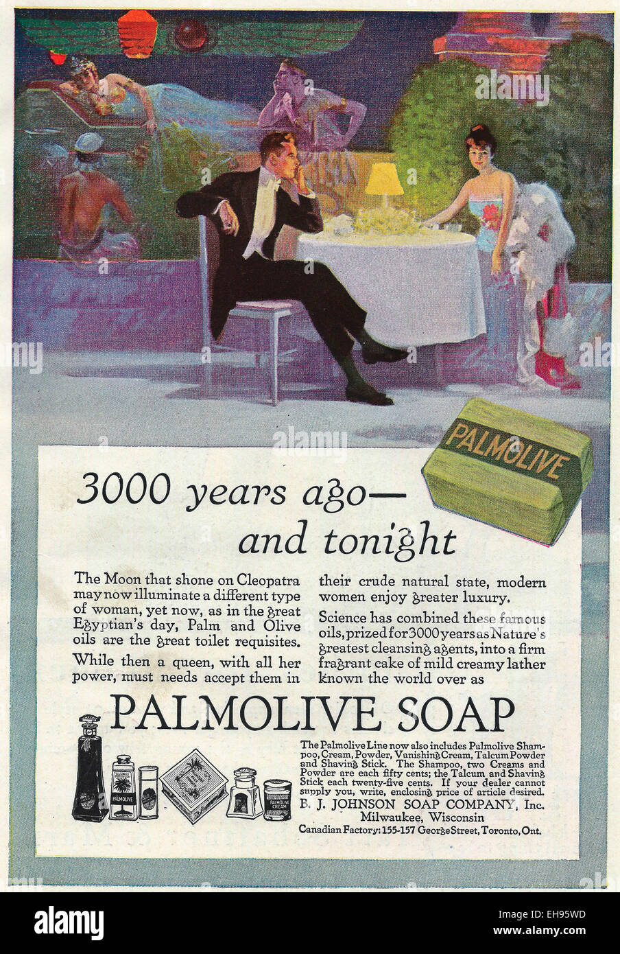 Advertisement for Palmolive Soap, 1916 - Stock Image