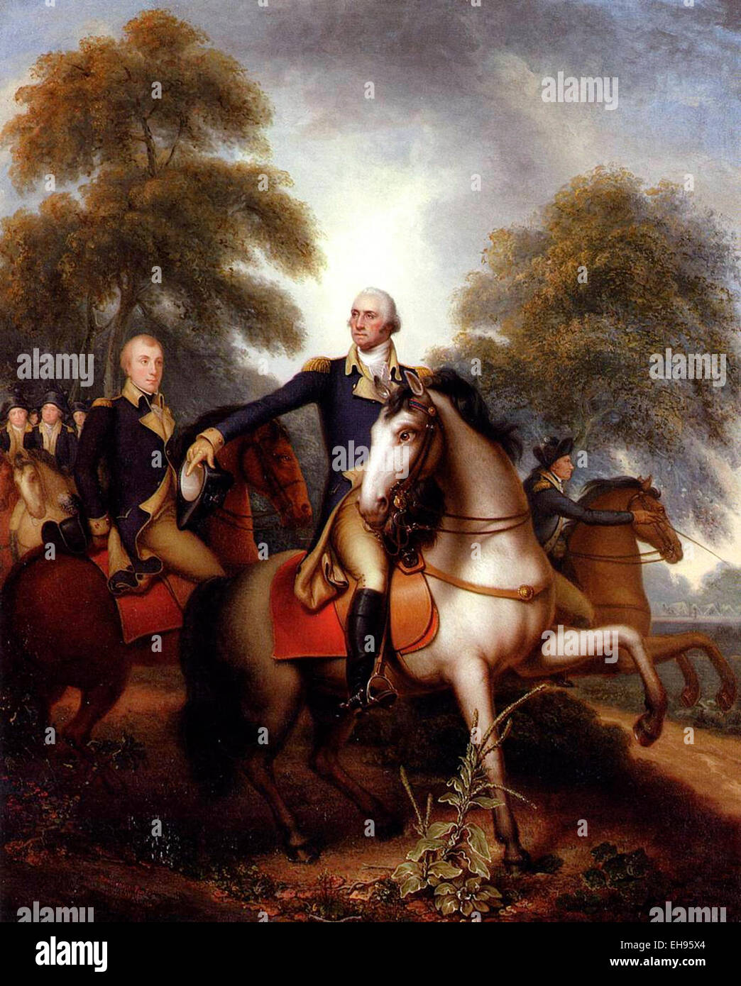 General George Washington Before Yorktown Rembrandt Peale 1823 Stock Photo