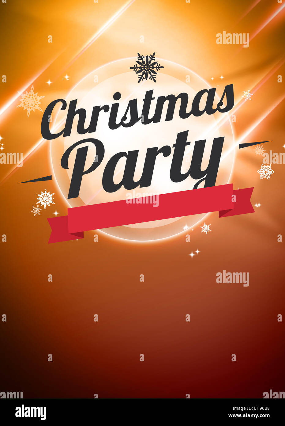 Christmas Party Invitation Poster Or Flyer Background With Empty