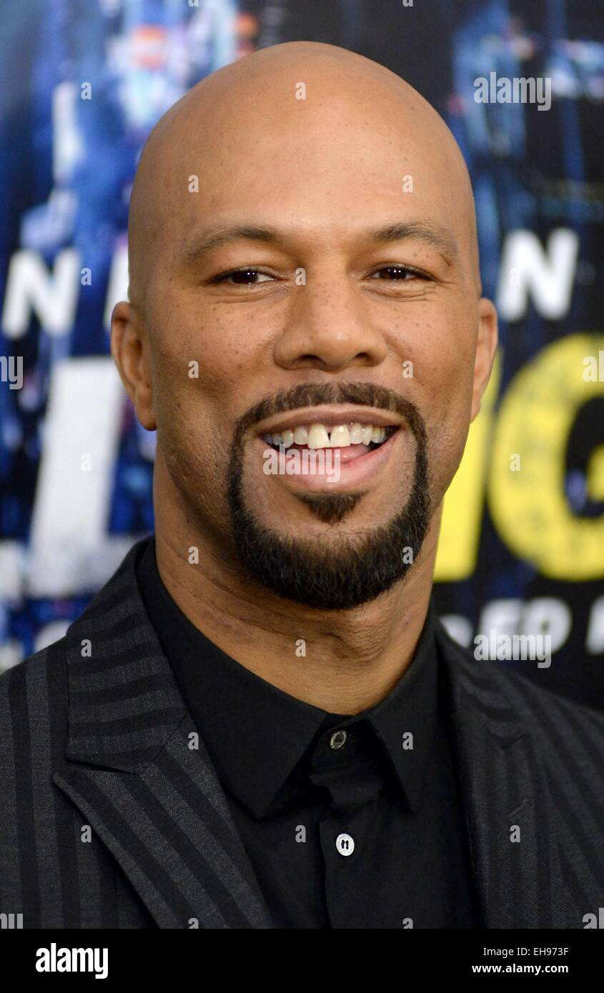New York, NY, USA. 9th Mar, 2015. Common at arrivals for RUN ALL NIGHT Premiere, AMC Theater at Lincoln Square, Stock Photo