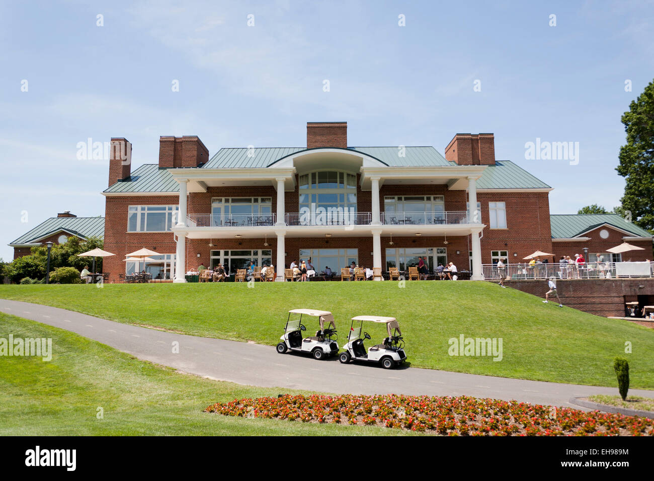 Clubhouse at golf course - USA - Stock Image