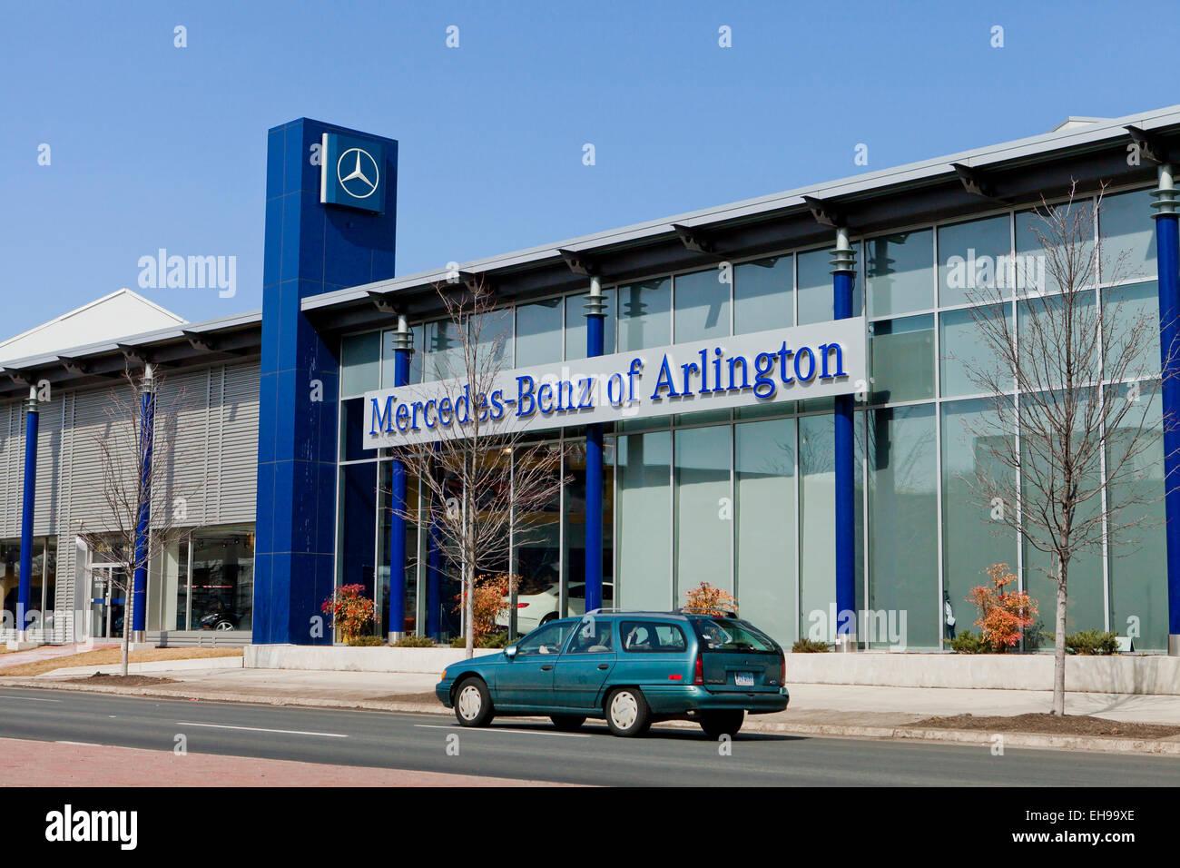 Mercedes-Benz of Arlington car dealership entrance - Virginia USA - Stock Image