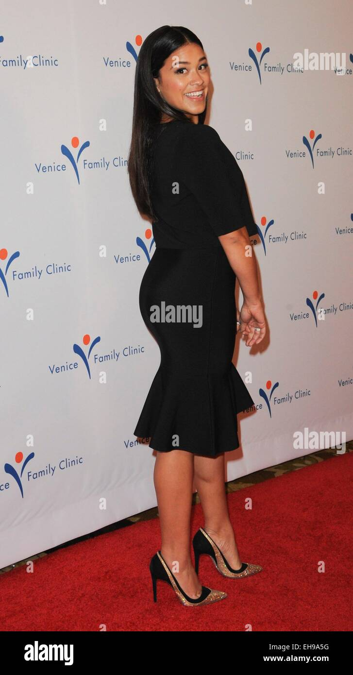 Beverly Hills, CA. 9th Mar, 2015. Gina Rodriguez at arrivals for 2015 Silver Circle Gala, The Beverly Wilshire Hotel, - Stock Image