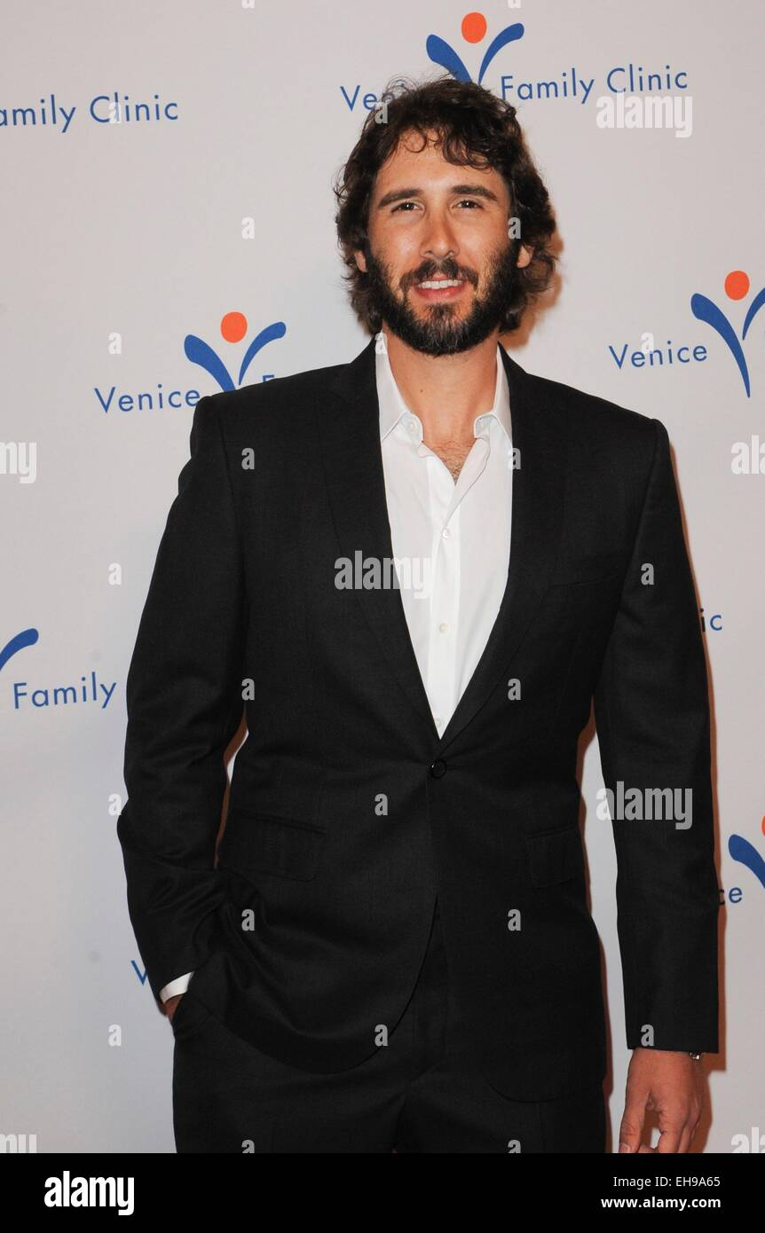 Beverly Hills, CA. 9th Mar, 2015. Josh Groban at arrivals for 2015 Silver Circle Gala, The Beverly Wilshire Hotel, - Stock Image