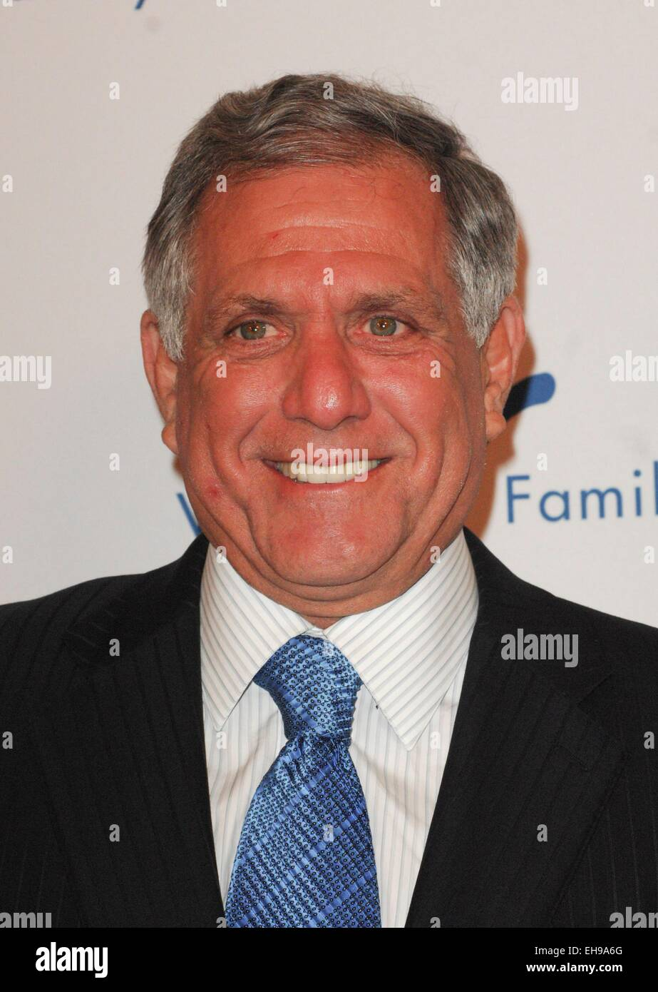 Beverly Hills, CA. 9th Mar, 2015. Les Moonves at arrivals for 2015 Silver Circle Gala, The Beverly Wilshire Hotel, - Stock Image