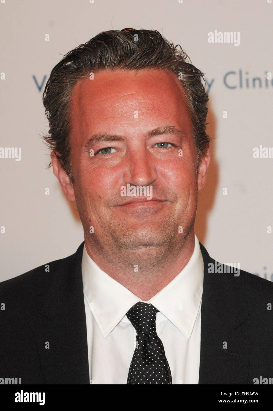 Beverly Hills, CA. 9th Mar, 2015. Matthew Perry at arrivals for 2015 Silver Circle Gala, The Beverly Wilshire Hotel, - Stock Image