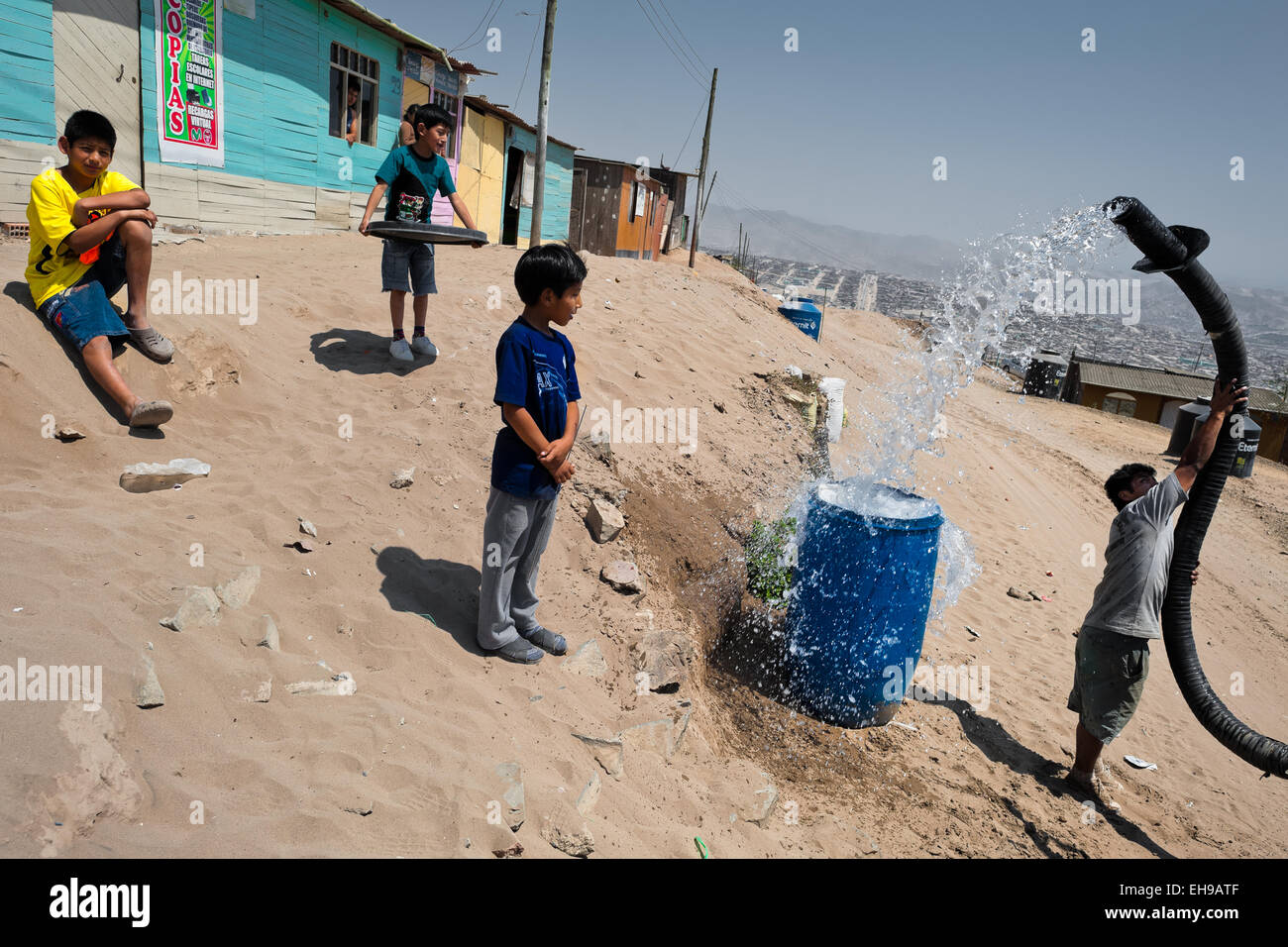 Poor Water Supply Children Stock Photos & Poor Water Supply