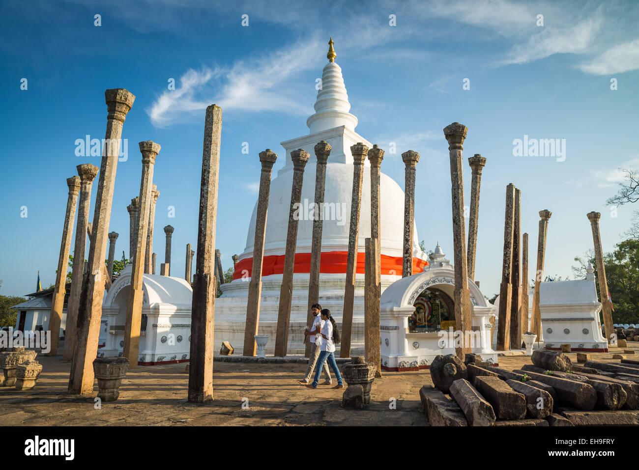 Thuparama Dagoba, Anuradhapura, UNESCO World Heritage Site, North Central Province, Sri Lanka, Asia Stock Photo