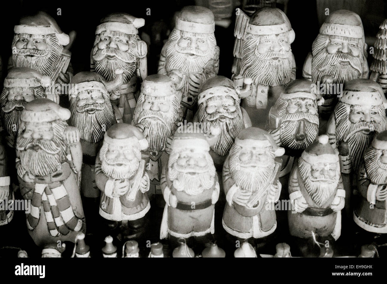 Father Christmas doll in Ubud in Bali in Indonesia in Southeast Asia. Santa Claus Carving Culture modern Fantasy - Stock Image
