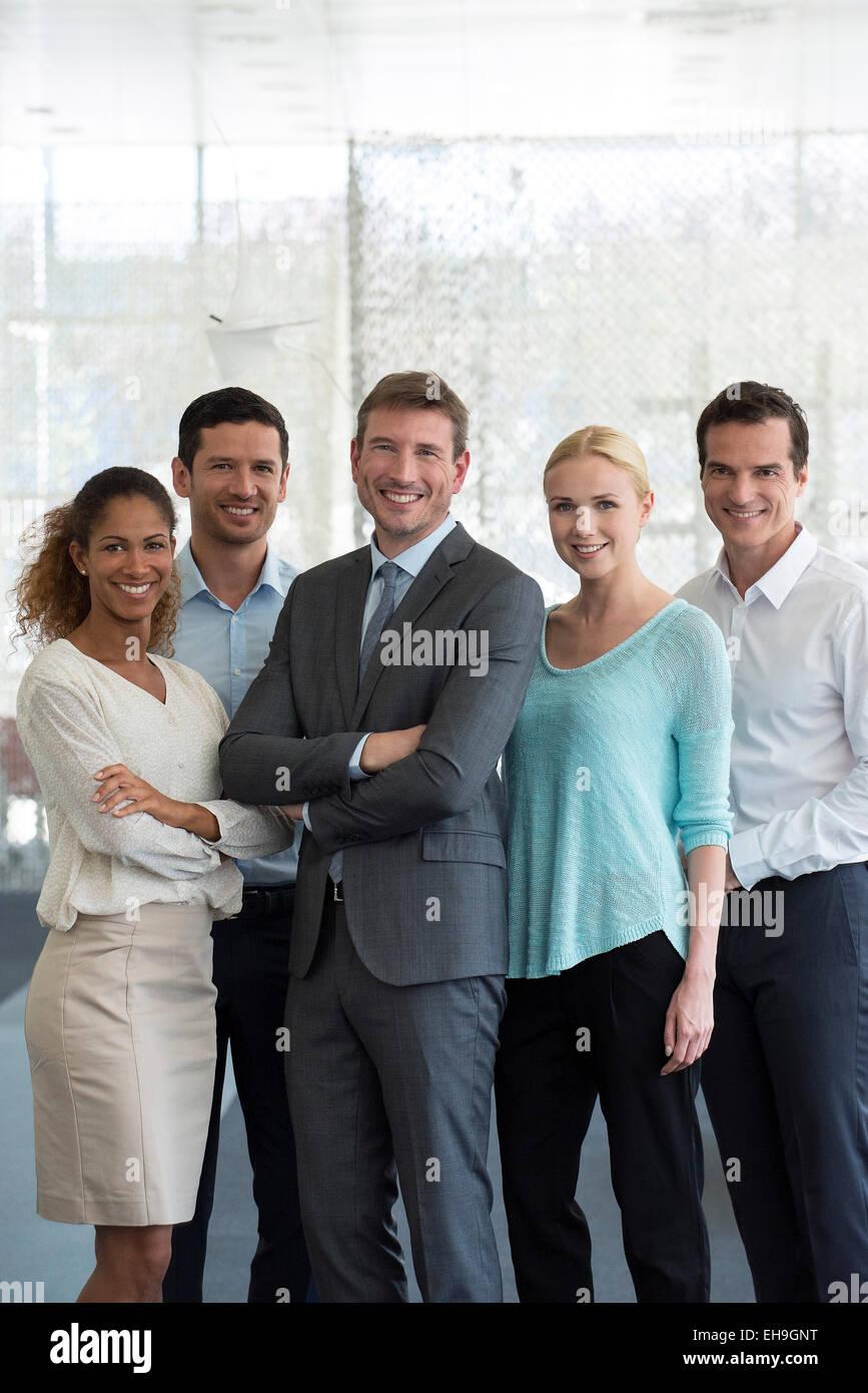 Team of professionals, portrait - Stock Image