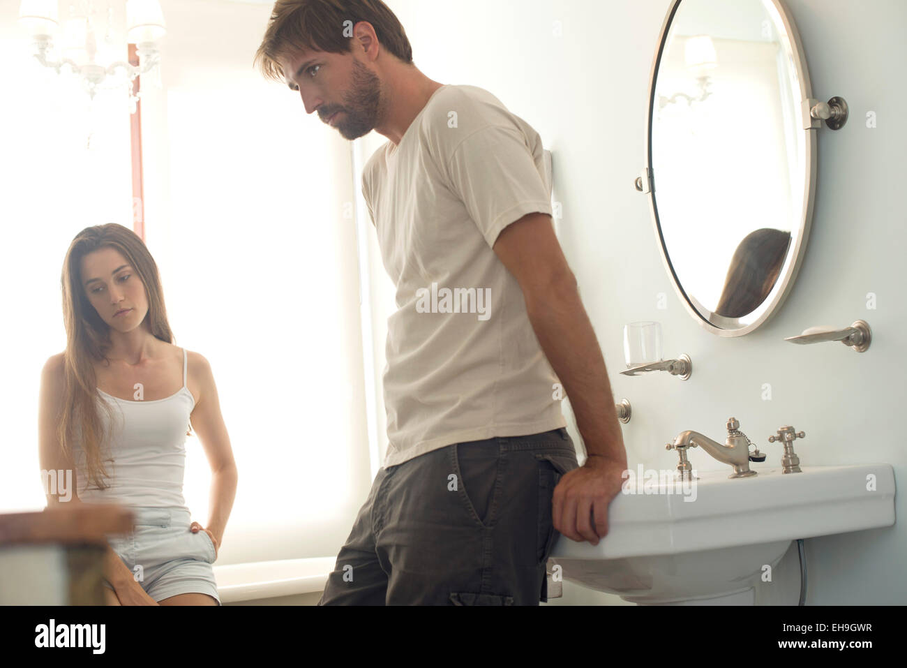 Couple angry with one another - Stock Image