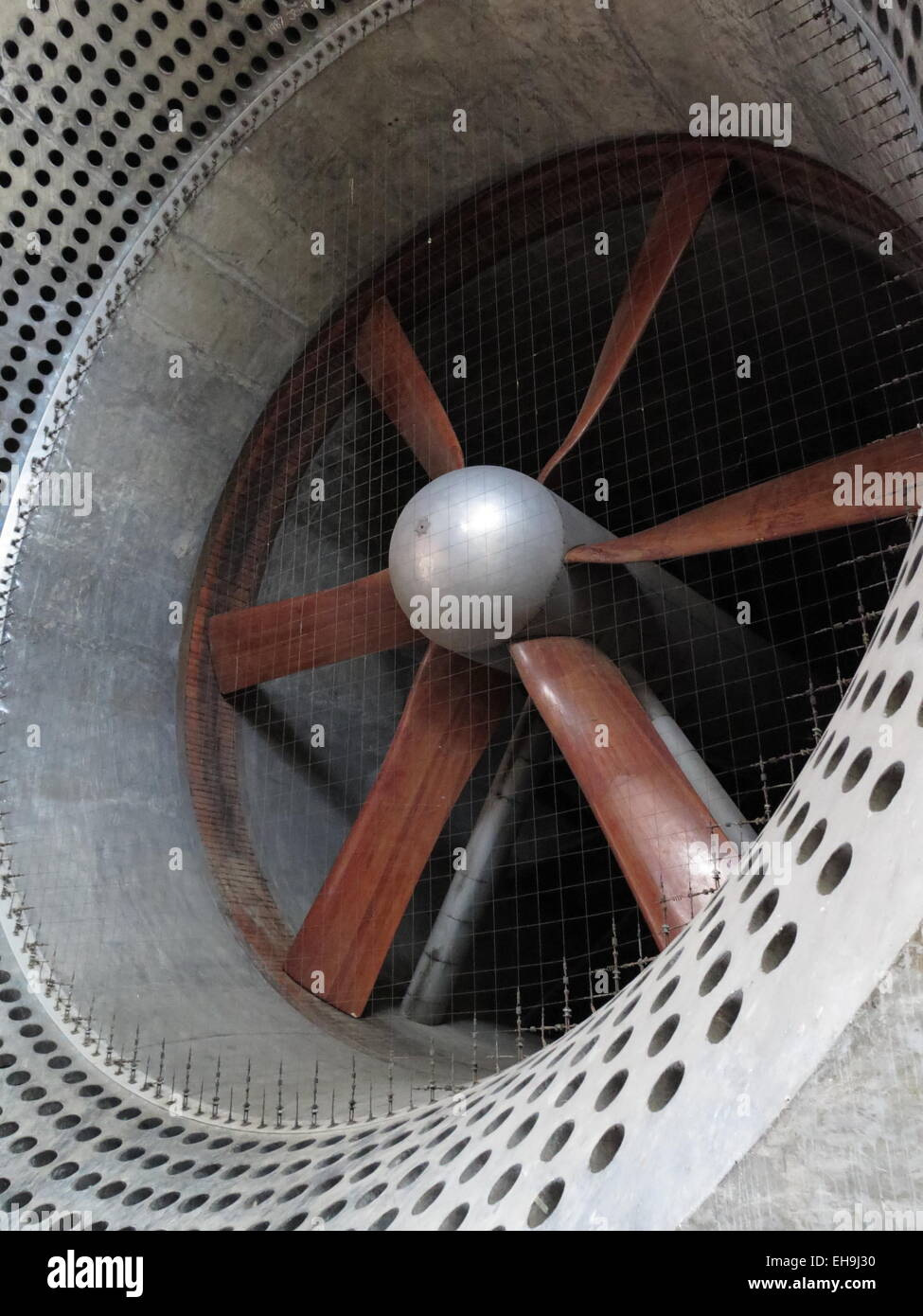 Royal Aircraft Establishment Farnborough: 24ft low-sped wind tunnel - Stock Image