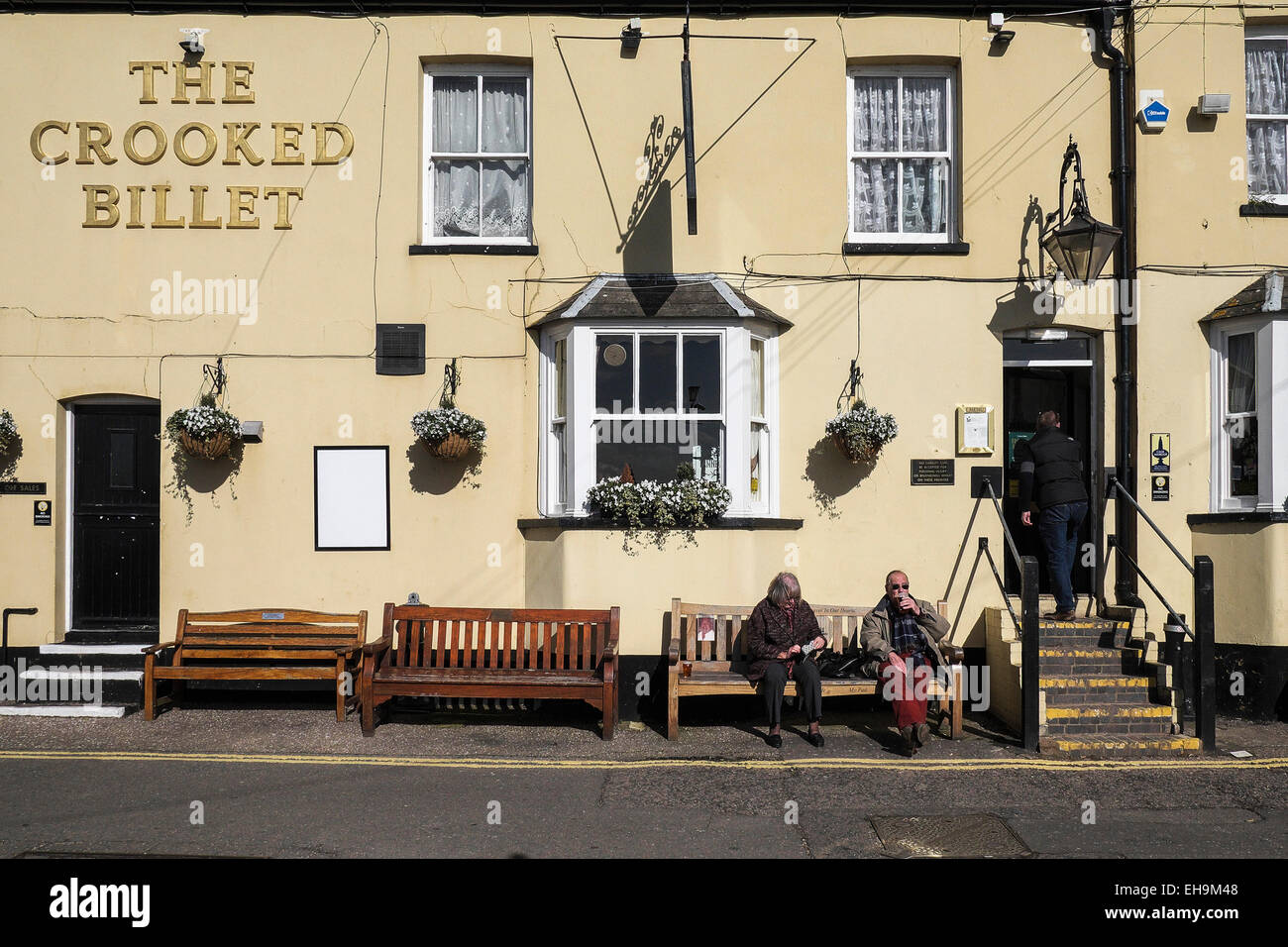 The Crooked Billet pub in Leigh on Sea in Essex. - Stock Image