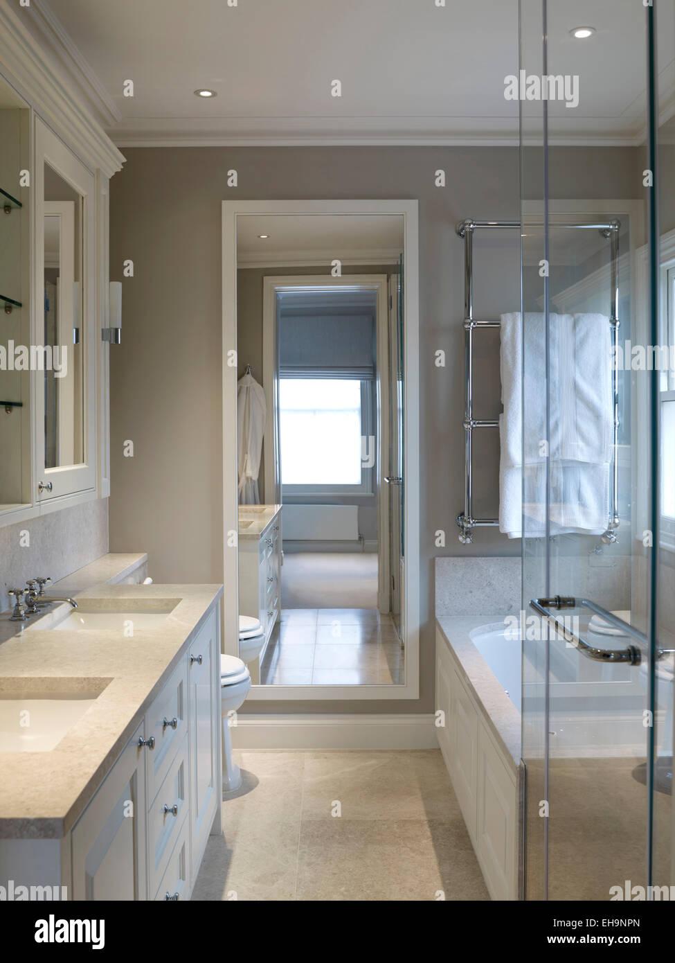 bathroom mirror reflection. Double Basin In Bathroom With Mirror Reflection Edenhurst Road Home, UK 2