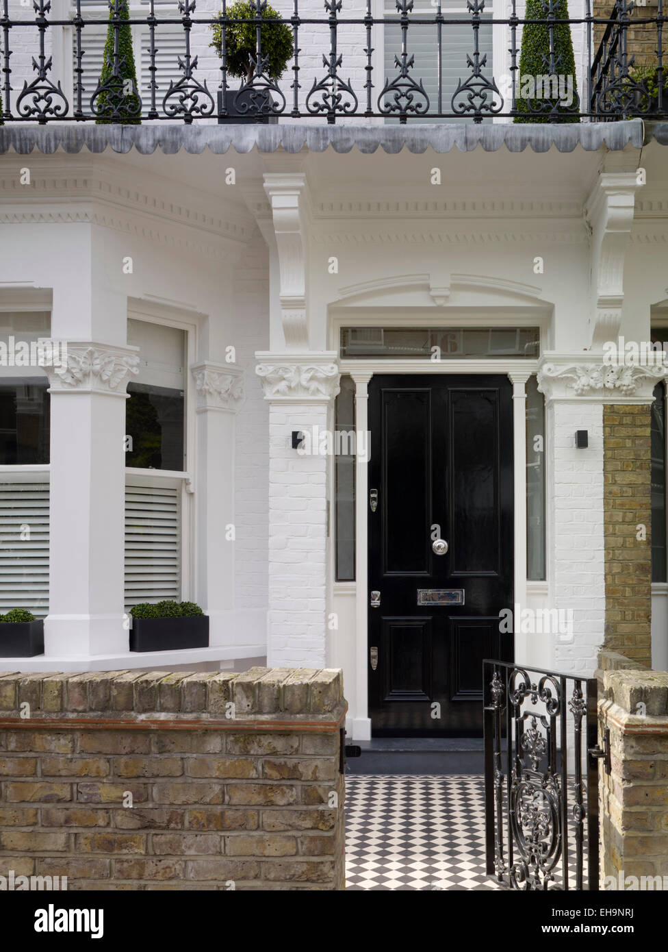 Exterior Open Ornate Victorian Metal Gate To Front Door With Moulded  Plaster In Chesilton Road Home, UK