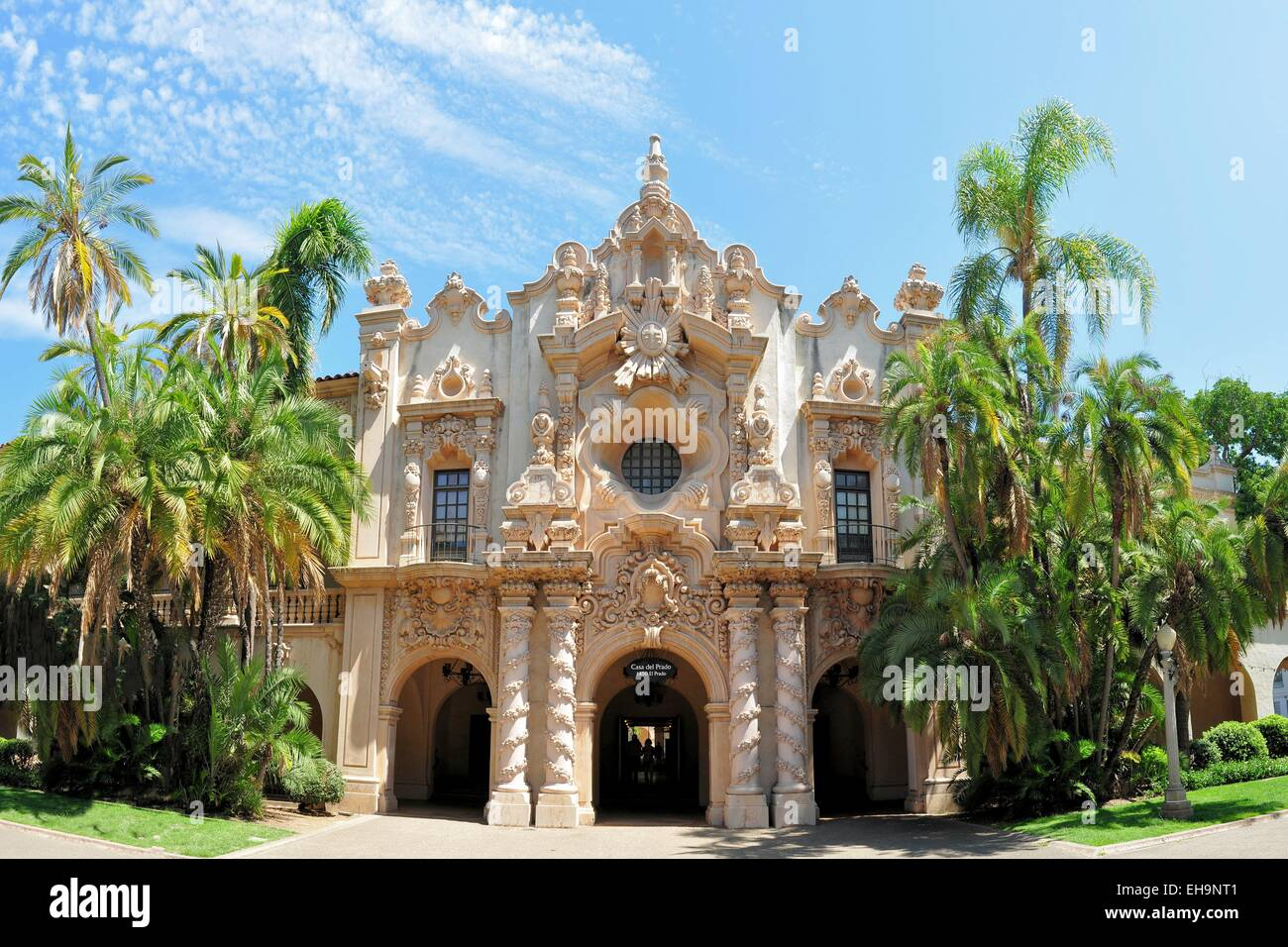 Spanish architecture Balboa park San Diego California Stock Photo