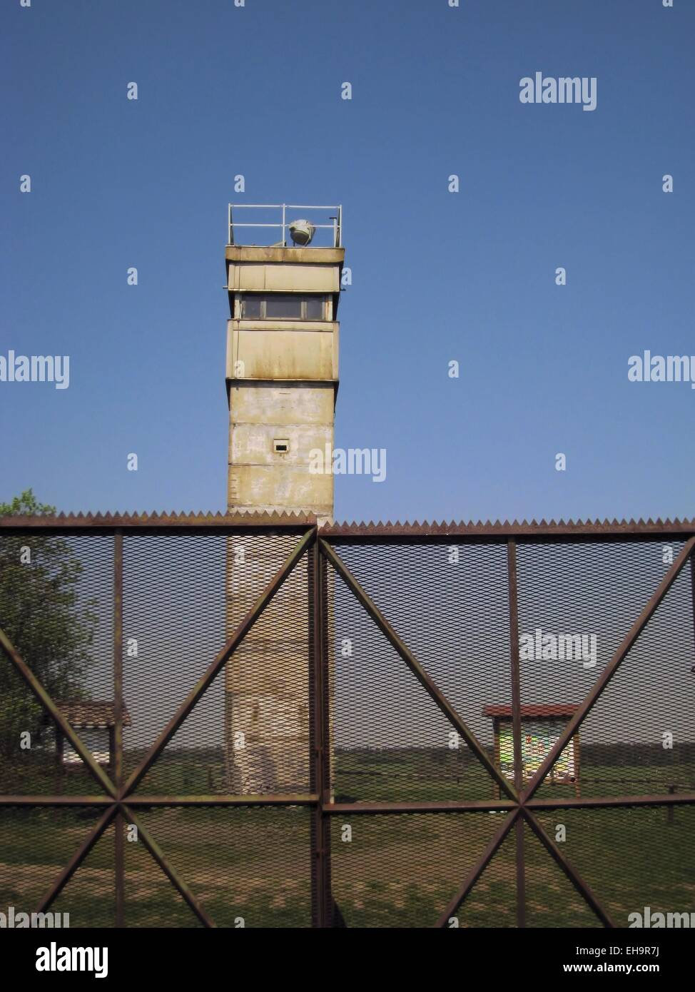 Watch Tower at West-East Border German Democratic Republic - Stock Image
