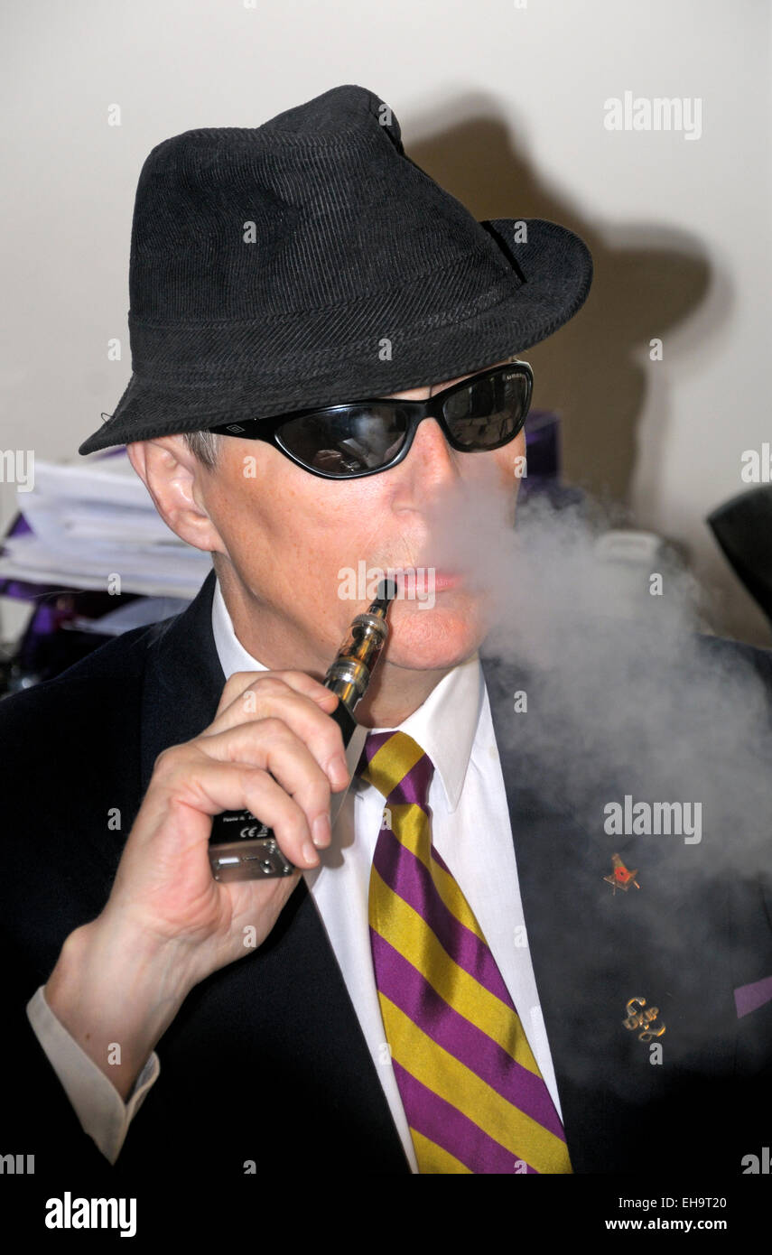 Rochester, UK. 8th Nov, 2014. Alun J Elder-Brown 'The Blind Blogger', Chairman and Secretary of UKIP, Tunbridge - Stock Image