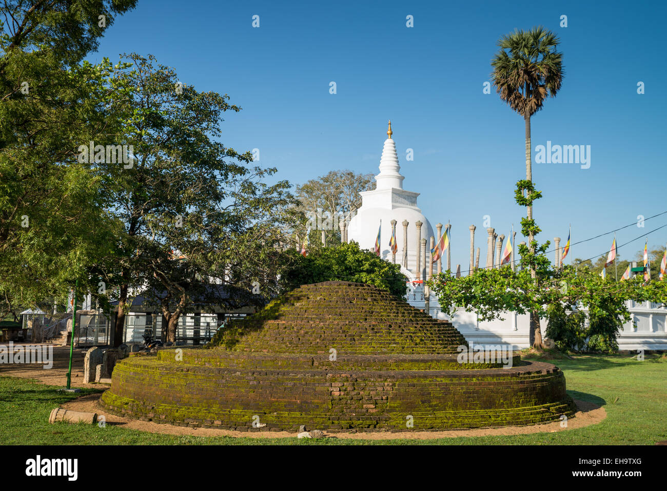 Thuparama Dagoba, Anuradhapura, UNESCO World Heritage Site, North Central Province, Sri Lanka, Asia Stock Photo