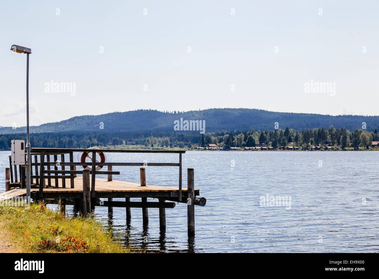 Waterfront, Lake Siljan, Solleron, Mora Municipality, Dalarna County, Sweden Stock Photo