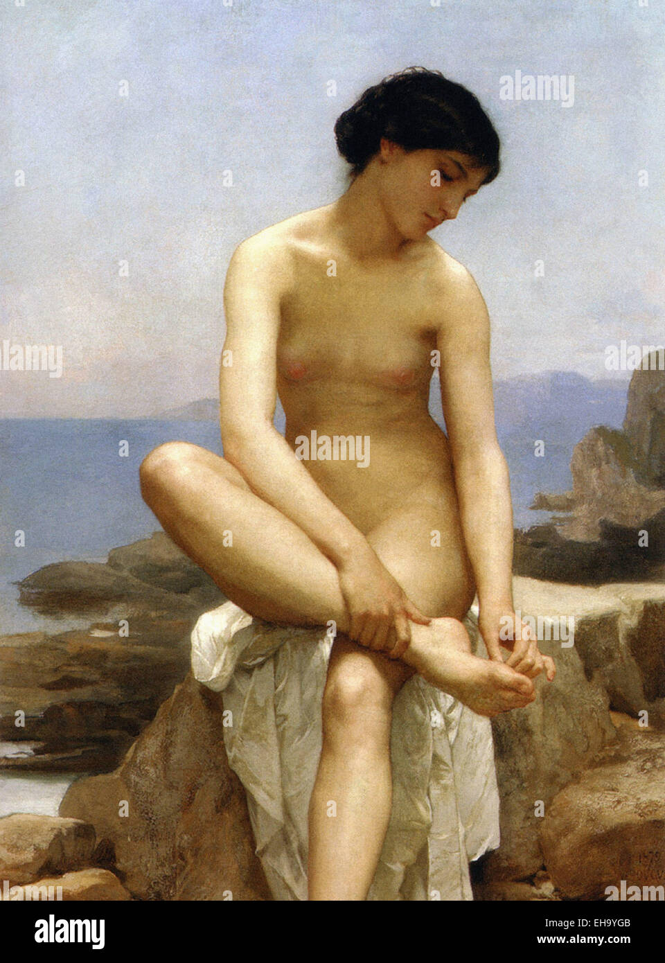 William Bouguereau  The Bather - Stock Image