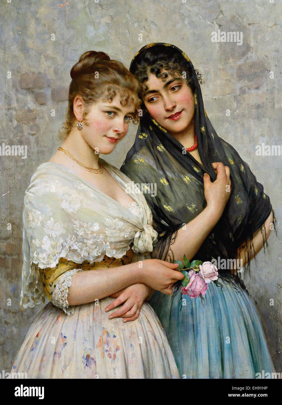 Eugene von Blaas  Venetian Beauties Stock Photo